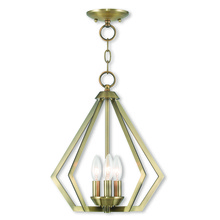 Livex Lighting 40923-01 - 3 Light AB Mini Chandelier/Ceiling Mount