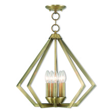 Livex Lighting 40925-01 - 5 Light Antique Brass Chandelier