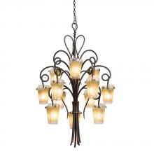 Kalco 4290TO/FLAME - Tribecca 12 Light Chandelier