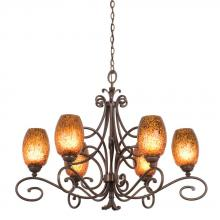 Kalco 5534AC/1501 - Amelie 6 Light Chandelier