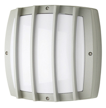 Stone Lighting WO810SICOB36 - Outdoor Wall Lux Square Grid Silver LED