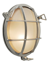 Stone Lighting WO850CHCF13 - Outdoor Wall Tortuga Round Chrome Compact Fluorescent GU24 13W