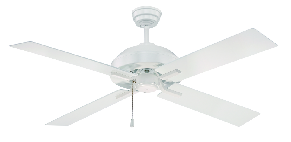 "Mi Casa Lighting in Woodland Hills, California, United States, Craftmade SB52W4, South Beach 52"" Ceiling Fan with Blades and Light in White, South Beach"
