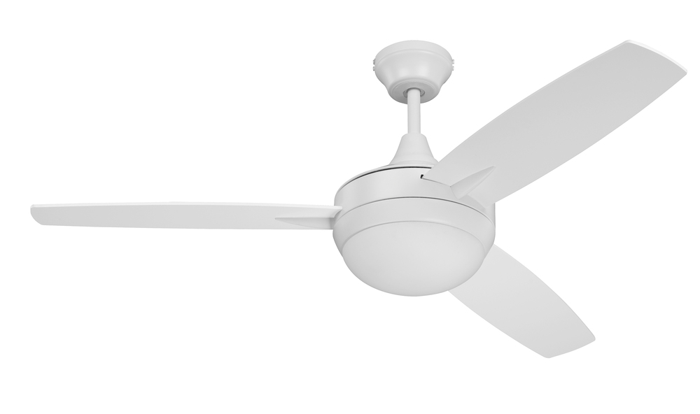 "Mi Casa Lighting in Woodland Hills, California, United States, Craftmade TG48W3, Targas 48"" Ceiling Fan with Blades and LED Light Kit in White, Targas 48"""