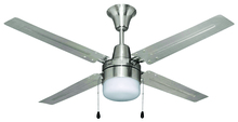 "Craftmade UB48BC4C1 - Urbana 48"" Ceiling Fan with Blades and Light in Brushed Chrome"