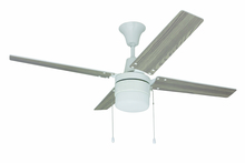 "Craftmade UBW48WW4C1 - Wakefield 48"" Ceiling Fan with Blades and Light in White"
