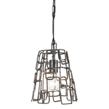 Crystorama 320-RS - Crystorama Lattice 1 Light Raw Steel Mini Chandelier