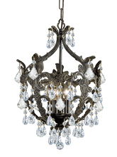 Crystorama 5195-EB-CL-S - Crystorama Legacy 5 Light Clear Swarovski Strass Crystal Bronze Mini Chandelier