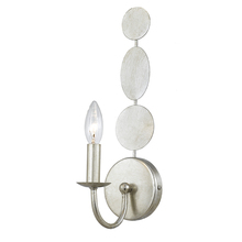 Crystorama 541-SA - Crystorama Layla 1 Light Antique Silver Sconce