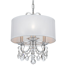 Crystorama 6623-CH-CL-S - Crystorama Othello 3 Light Clear Swarovski Strass Crystal Polished Chrome Mini Chandelier