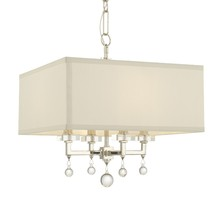 Crystorama 8105-PN - Crystorama Paxton 4 Light Nickel Mini Chandelier