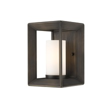 Golden 2073-1W GMT-OP - 1 Light Wall Sconce (Gunmetal Bronze & Opal Glass)