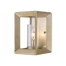 Golden 2073-1W WG-CLR - 1 Light Wall Sconce (White Gold & Clear Glass)