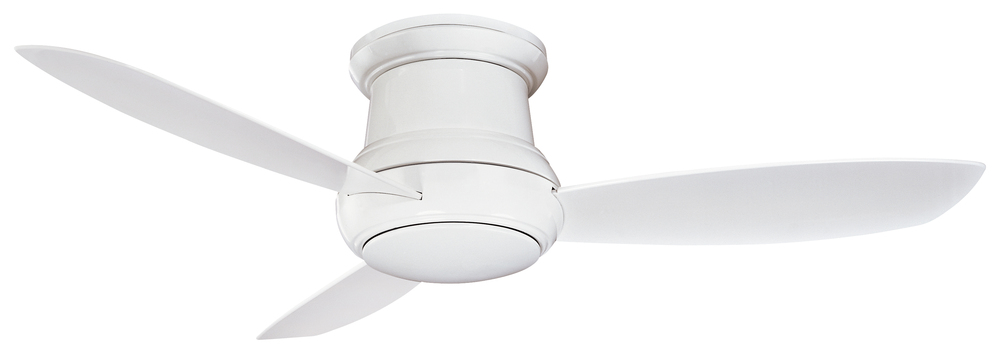 Mi Casa Lighting in Woodland Hills, California, United States, Minka-Aire F574-WH, One Light White Outdoor Fan, Concept Ii Wet