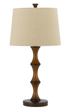 "CAL Lighting BO-2039TB - 28"" Height Resin Table Lamp In Bamboo Finish"
