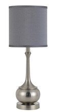 "CAL Lighting BO-2256TB-BS - 24.5"" Height Metal Accent Lamp In Brushed Steel"