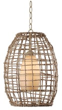 Kenroy Home 93316TN - Seagrass 1 Light Pendant