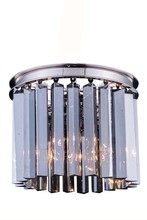 Elegant 1208F12PN-SS/RC - 1208 Sydney Collection Flush Mount D:12in H:13in Lt:3 Polished nickel Finish (Royal Cut Crystals)