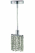 Elegant 1281D-R-E-CL/EC - 1281 Mini Collection Pendant D:4.5in H:4.5in Lt:1 Chrome Finish (Elegant Cut Crystals)