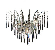 Elegant 8032W16C/SS - 8032 Victoria Collection Wall Sconce D:16in H:13in E:8in Lt:3 Chrome Finish (Swarovski� Elements Cry