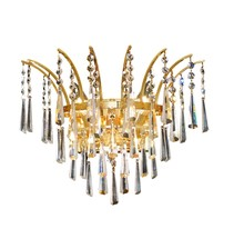 Elegant 8032W16G/SS - 8032 Victoria Collection Wall Sconce D:16in H:13in E:8in Lt:3 Gold Finish (Swarovski� Elements Cryst
