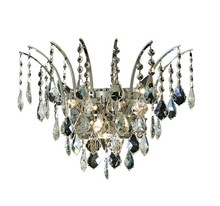 Elegant 8033W16C/SS - 8033 Victoria Collection Wall Sconce D:16in H:13in E:8in Lt:3 Chrome Finish (Swarovski� Elements Cry
