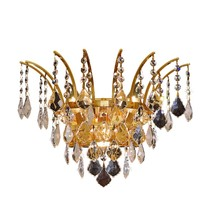 Elegant 8033W16G/SS - 8033 Victoria Collection Wall Sconce D:16in H:13in E:8in Lt:3 Gold Finish (Swarovski� Elements Cryst