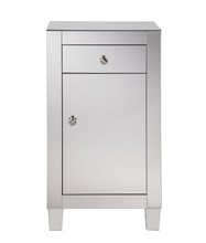 Elegant MF6-1035 - 1 drawer 1 door cabinet 18 in. x 12 in. x 32 in. in Clear Mirror