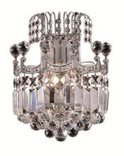 Elegant V8949W12C/SS - 8949 Corona Collection Wall Sconce D:12in H:12in E:6in Lt:2 Chrome Finish (Swarovski� Elements Cryst