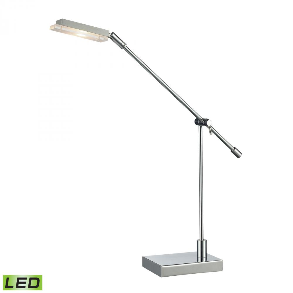 Bibliotheque Adjustable LED Desk Lamp in Polished Chrome