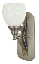 Framburg 4677 SP/PN - 1-Light Satin Pewter/Polished Nickel Aries Sconce
