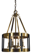 Framburg 4664 SP/PN - 4-Light Satin Pewter/Polished Nickel Pantheon Pendant