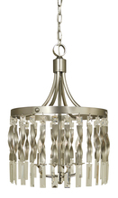 Framburg 4714 SP/PN - 4-Light Satin Pewter/Polished Nickel Adele Mini Pendant