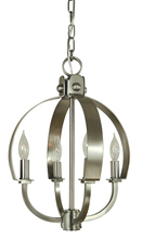 Framburg 4724 AB - 4-Light Antique Brass Luna Chandelier