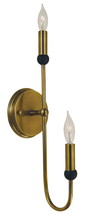 Framburg 4792 SP/PN - 2-Light Satin Pewter/Polished Nickel Nicole Sconce