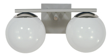 Framburg 4822 SP/PN - 2-Light Satin Pewter/Polished Nickel Blue Moon Bath Sconce